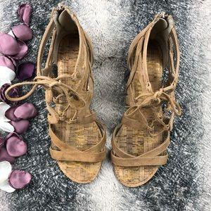 c7c31e1a30f526 Sam Edelman Suede Lace-up Sandals